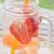 vidrio · botella · naranja · frutas · agua - foto stock © nalinratphi