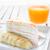 banana · caramelo · crepe · bolo · fresco · suco · de · laranja - foto stock © nalinratphi