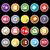 multimédia · ikonok · vektor · háló · mobil · nyomtatás - stock fotó © nalinratphi