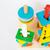 colorido · brinquedo · de · madeira · branco · tabela · estoque · foto - foto stock © nalinratphi