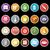torta · di · compleanno · icona · lungo · ombra · computer - foto d'archivio © nalinratphi