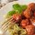 spaghetti · salsa · di · pomodoro · carne · ristorante · palla - foto d'archivio © naltik
