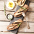 sandwich tapas with sardines sprats with olives and salt stock photo © naltik