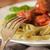 spagetti · paradicsomszósz · húsgombócok · ebéd · étel · edény - stock fotó © naltik