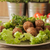 meatballs with cabbage on lettuce and basil stock photo © naltik