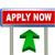 3d arrow road sign   apply now stock photo © nasirkhan