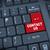 kırmızı · düğme · sözler · bilgisayar · teknoloji - stok fotoğraf © nasirkhan