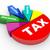 3D · adó · jövedelem · kördiagram · 3d · render · közelkép - stock fotó © nasirkhan