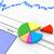 3D · kördiagram · pénzügyi · papír · tükröződő · asztal - stock fotó © nasirkhan