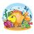 goudvis · witte · fabelachtig · vis · Geel · zee - stockfoto © natali_brill