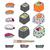 diferente · sushi · conjunto · isolado · branco - foto stock © Natali_Brill