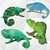 regenboog · kameleon · illustratie · cartoon · glimlach · kunst - stockfoto © natali_brill