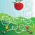 cômico · desenho · animado · verme · maçã · retro - foto stock © natali_brill