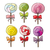 set of colorful lollipops in hand drawn style stock photo © natali_brill