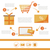 E-commerce infographic flat set - discount card - vector illustration for shop stock photo © Natali_Brill