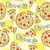 Doodle style pizza  seamless vector background stock photo © Natali_Brill