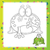 illustration of Cartoon frog stock photo © Natali_Brill
