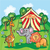 Bright cartoon illustration for children with circus animals stock photo © Natali_Brill
