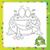 ilustração · desenho · animado · sapo · livro · para · colorir · sorrir · livro - foto stock © Natali_Brill