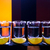 shot drink set with citrus slices on bar stock photo © natali_brill