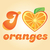 Love orange vector illustration stock photo © Natali_Brill