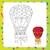 air balloon coloring book page stock photo © natali_brill