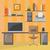 modernes · bureau · architecte · d'intérieur · bureau · design · affaires - photo stock © natali_brill