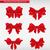 set of decorative ribbon bows vector illustration stock photo © natashasha
