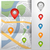 city map with gps pointers icons vector illustration stock photo © natashasha