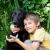 menino · cão · feliz · sorridente · pequeno - foto stock © naumoid
