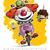 radosny · kolorowy · clown · uśmiechnięty · kobieta · kwiat - zdjęcia stock © nazlisart