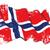 grunge · banderą · Norwegia · tekstury - zdjęcia stock © nazlisart