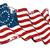us civil war union  37 star medallion   scratched flag stock photo © nazlisart