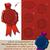 vektor · piros · viasz · fóka · bélyegek · szett - stock fotó © nazlisart