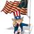 nagybácsi · amerikai · zászló · vektor · rajz · illusztráció · tart - stock fotó © nazlisart