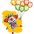 Clown with Balloons Saying Thank You stock photo © nazlisart