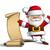 kerstman · gelukkig · cartoon · hand - stockfoto © nazlisart