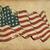 us wwi wwii 48 stars grunge flag textured background wallpaper stock photo © nazlisart