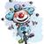 clown on unicycle juggling boy colors stock photo © nazlisart
