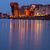 motlawa river and old gdansk at night stock photo © neirfy