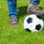 dzieci · grać · piłka · nożna · trawy · sportowe · dziedzinie - zdjęcia stock © neirfy