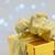 Noël · or · présents · boîte · arc · peu · profond - photo stock © neirfy