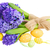 blue hyacinth with easter eggs stock photo © neirfy