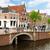 historisch · huizen · oude · holland · kanaal - stockfoto © neirfy
