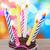 bir · doğum · günü · mutlu · yıllar · mum · yanan - stok fotoğraf © neirfy