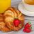 gezonde · ontbijt · koffie · croissants · sinaasappelsap · licht - stockfoto © neirfy