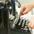 női · író · gépel · öreg · írógép · sötét - stock fotó © neirfy