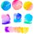 acuarela · rojo · amarillo · colorido · círculos · establecer - foto stock © neirfy