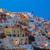 város · Santorini · Görögország · naplemente · tenger · hagyományos - stock fotó © neirfy