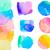 acuarela · círculos · mano · pintado · círculo · forma - foto stock © neirfy